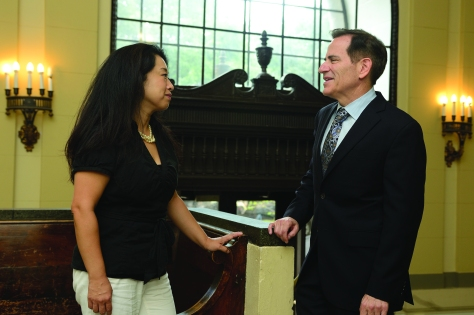Bronstein aims to work with faculty, including Ah Young Hong (voice), to ensure a holistic educations for Peabody students.