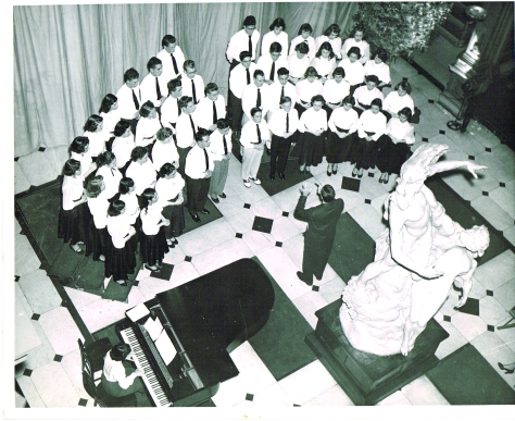 Prep Senior Choir in Rehearsal 1950 (1)