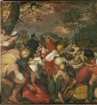 Title: Carlo Borromeo Visiting Plague Victims in the Countryside