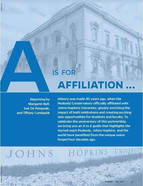 A is for Affiliation
